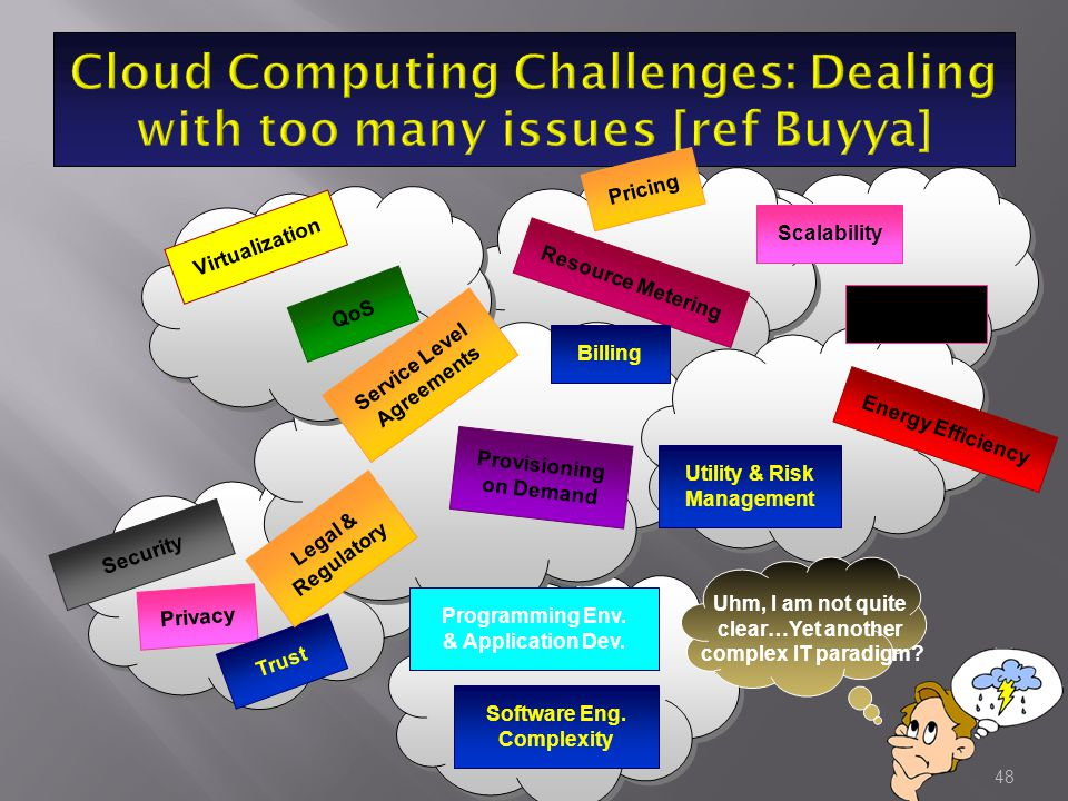 Cloud Computing Challenges: Dealing with too many issues [ref Buyya]